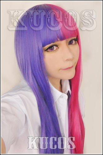 Girl Friend Beta NigakiHina Hina Niigaki 80cm long straight purple pink anime cosplay full wig