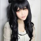 RWBY Black Trailer Blake Belladonna Black Long curly cosplay wig