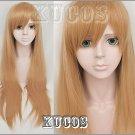 VOCALOID kaobontandeki girl long straight 80cm cosplay wig