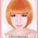 Place To Place Katase Mayoi short orange costume cosplay wig + wig cap