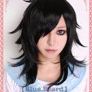 Watashi ga Motenai no wa Dou Kangaete mo Omaera ga Warui Tomoko kuroki Black Costume cosplay wig