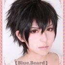 PSYCHO-PASS Kougami Shinya short black costume cosplay wig