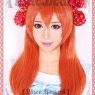Gekkan Shoujo Nozaki kun Sakura Chiyo orange cosplay full wig + bowknot
