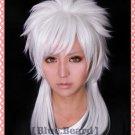 Magi-The Labyrinth of Magic Sharrkan Long Silver White Cosplay Wig