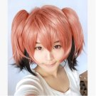 Akuma no Riddle Ichinose haru short pink black ponytails cosplay wig