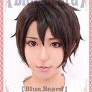 Aldnoah Zero Kaizuka Inaho short black brown anime cosplay wig