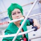 ONE PIECE Roronoa Zoro short green anime cosplay wig
