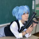 Assassination Classroom Shiota Nagisa short ice blue anime cosplay wig