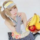 lovelive!Kotori Minami brown long cosplay wig 60cm tail