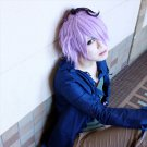Ib Garry short curly purple anime cosplay wig