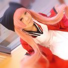 Gugure! Kokkuri-san SIAO YU dark pink 120cm clip pontails anime cosplay wig