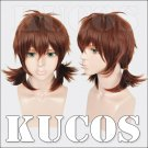 Attack on Titan Regretless choice Isabelle red brown anime cosplay wig