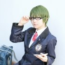 Girl's Side 3rd Season short olive green anime cosplay wig