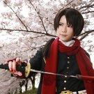 Furari no ken Kashuukiyomitsu long brown little tails anime cosplay wig