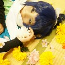 Furari no ken yamatonokami yasusada blue black one ponytail short anime cosplay wig
