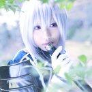 Furari no ken NamazuoToushiro short silver white anime cosplay wig
