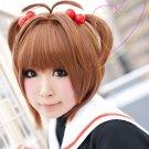 CARDCAPTOR SAKURA KINOMOTO SAKURA short brown anime cosplay wig