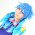 Dramatical Murder Seragaki Aoba 60cm blue gradient color anime cosplay wig