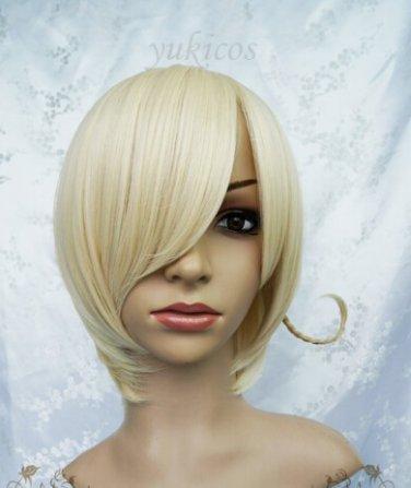 Axis powers hetalia APH Norway short light blonde anime cosplay full wig