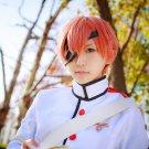 Ayakashigohan Inushima Yomi short orange cosplay wig