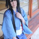Ken ga Kimi Sakyo Sagihara 100cm long straight black cosplay wig