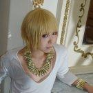Fate/stay night Fate/Zero Gilgamesh short blonde cosplay wig