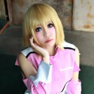 MOBILE SUIT GUNDAM seed destiny Stellar short blonde cosplay wig