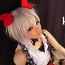vocaloid knife short silver white cosplay wig