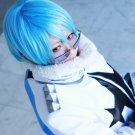 KILL LA KILL Inumuta Houka short ice blue cosplay wig