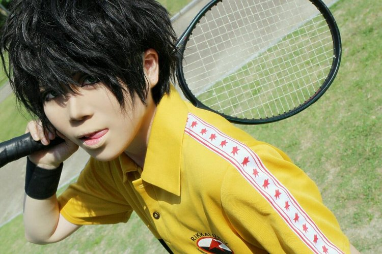 The Prince of Tennis Akaya Kirihara short black cosplay wig