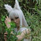 YuYu Hakusho Youko Kurama long straight silver white 100cm cosplay wig