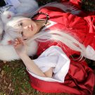 Inuyasha long straight silver white 100cm cosplay wig