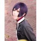 Hiiro no Kakera Shinji Inukai short black purple mix anime cosplay wig