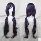 LOVE LIVE Toujou Nozomi White Day Long curly 80CM black purple Cosplay wig