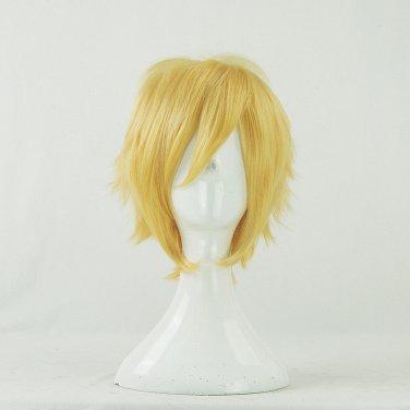 Furari no ken yamanbagirikunihiro short golden anime cosplay wig