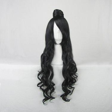Hoozuki no Reitetsu Da Ji long curly black 80cm anime cosplay wig
