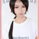 Furari no ken Kashuukiyomitsu long brown little tail anime cosplay wig