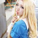 ZONE-00 HIME 80cm blonde curly anime cosplay wig