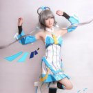 Vocaloid china Luotianyi gray cosplay wig 100cm