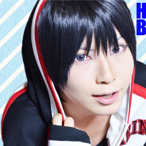 Kuroko No Basketball Iduki Shun short black cosplay wig