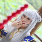 Swordsman 3 LOLI silver white 80cm anime cosplay wig