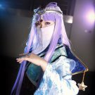 The Legend of Qin Priestess of Birth light purple 100cm anime cosplay wig