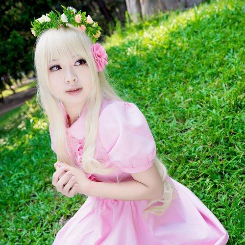 project-Kagerou Project Mary Kozakura Mari long curly 100cm light blonde anime cosplay wig
