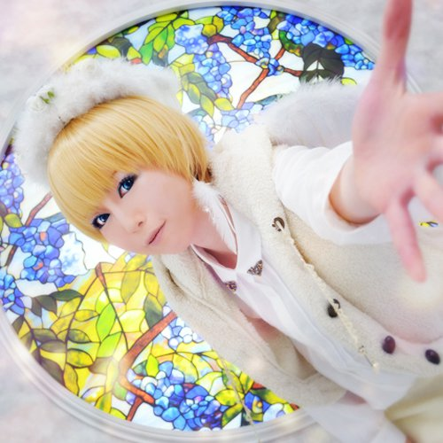 angel sanctuary Setsuna Mudou short gold cosplay wig