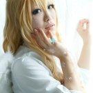 angel sanctuary Sara Mudou long 100cm curly gold cosplay wig