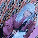 Hakuouki Shinsengumi Kitan yukimura chiduru long 60cm silver white cosplay wig