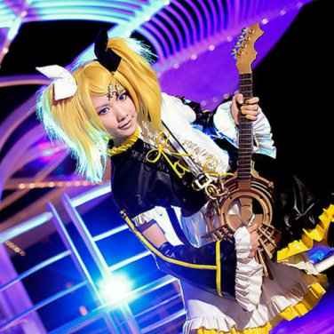 vocaloid feat.Kagamine Rin gold cosplay wig