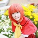 Ookami-san to Shichi-nin no Nakamatachi akai ringo short orange cosplay wig