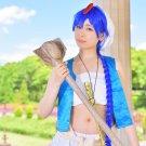 MAGI-Magi: The Labyrinth of Magic Aladdin blue 100cm braid anime cosplay wig