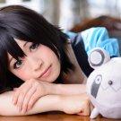 Steins;Gate Shiina Mayuri short black cosplay wig